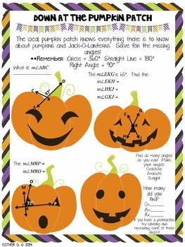 Trick or Treat, Smell My Feet Halloween Math Packet for Upper Grades