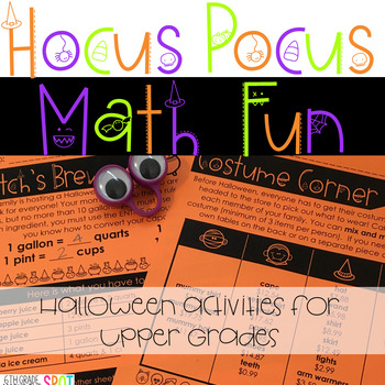 Hocus Pocus Halloween Math Packet for Upper Grades