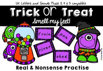 Trick or Treat Smell My Feet! Nonsense word blending UK Phonics