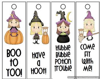 Trick or Treat Smell my Feet Hallowe'en Bookmarks