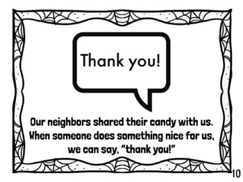 Trick or Treat Social Story- Lessons to Teach While Trick or Treating