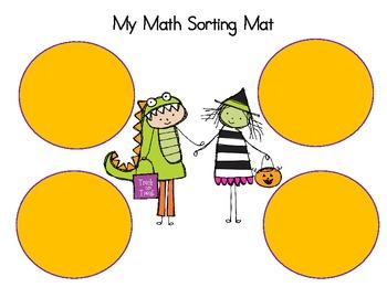 Trick or Treat Sorting Mat - Math
