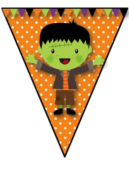 """""""Trick-or-Treat"""" & """"Spooky"""" Pennant Banners"""