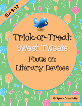 Trick-or-Treat: Sweet Tweets, a Literary Devices Activity for October