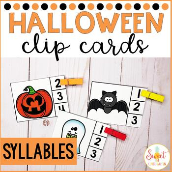 Halloween Syllables Clip-It