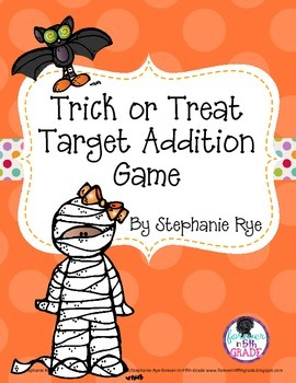 Trick or Treat Target Addition Game