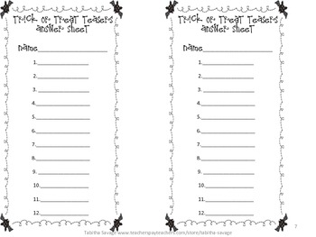 Trick or Treat Teasers- Halloween Word Problem Center! Gr. 1-2