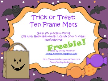 Trick or Treat- Ten Frame Mats (Freebie)