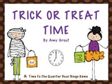 Trick or Treat Time: Time to the Quarter Hour Bingo Game