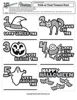 Halloween: Trick-or-Treat Treasure Hunt