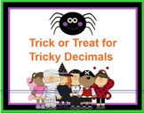 Trick or Treat Tricky Decimals Halloween Theme