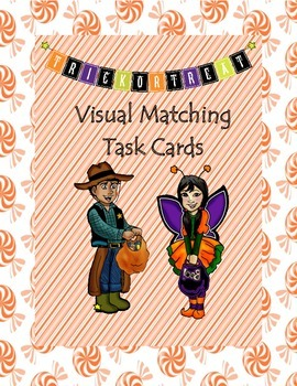 Trick or Treat Visual Matching Task Cards