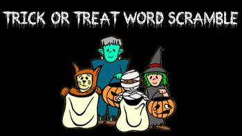 Trick or Treat Word Scramble Activity