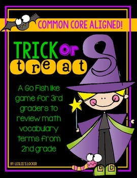 Trick or Treat (a math vocabulary game)