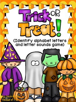 Trick-or-Treat!  alphabet letter and letter sound game