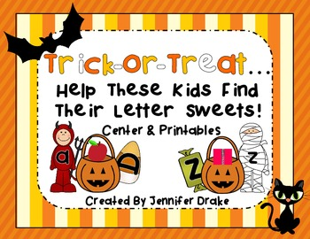 Trick-or-Treat..ABC Letter & Sound Treats!  CC Aligned Halloween Center/Activity