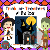 Speech therapy finger plays: Halloween, spatial concepts,
