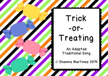 """""""Trick-or-Treating"""" Adapted traditional song - Kodaly (minor scale me-sol-la)"""