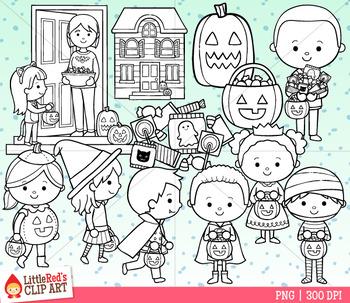 Trick or Treat Halloween Clip Art