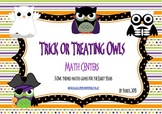Trick or Treating Owls: Maths Centers