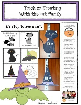 Trick or Treating With the -at Family: Emergent Reader With a Slider Craft