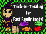 Trick or Treating for Fact Family Candy! (sums to 10)