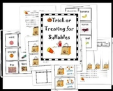 Trick or Treating for Syllables Halloween sorting activity and assessments