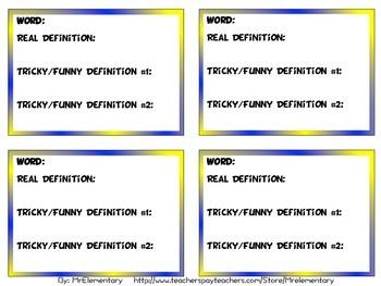 Fun, Free Vocabulary Game