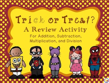 Trick or treat? Math Review featuring Melonheadz clipart