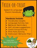 Trick-or-treat Speech & Language Handouts (Color)