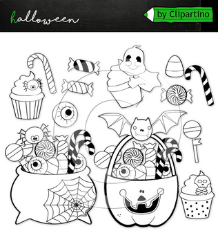 Trick or treat candy  clipart