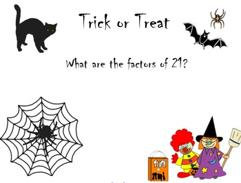 Trick or treat math review notebook