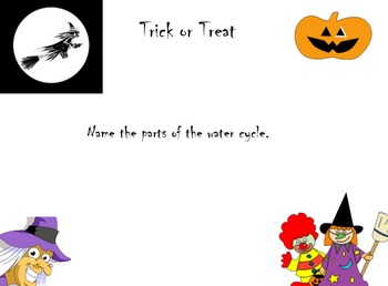 Trick or treat science review notebook