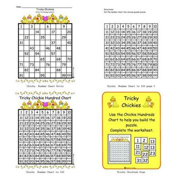 Trickie Chickie (100 chart puzzle)