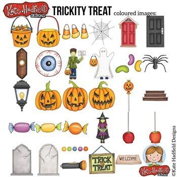 "Halloween Clip Art 3: ""Trickity Treat"""
