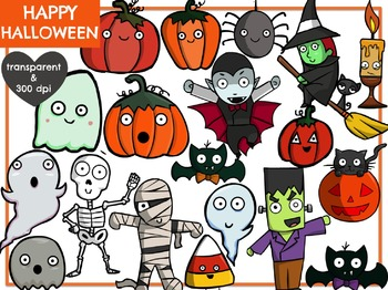 Happy Halloween (Digital Clip Art) BIG SET!