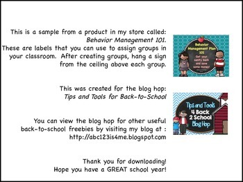 Tips and Tools for Back-to-School FREEBIE {PA Blog Hop}