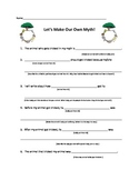 Trickster Tale Writing- Graphic Organizer + Writing Paper