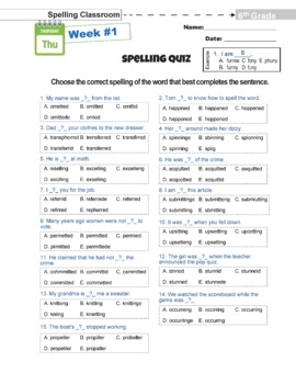 Tricky 450! 6th Grade Spelling Workbook | 30 Weeks | Daily Lessons | Tests