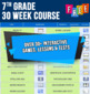 FREE ONLINE 7th Grade Spelling & Vocabulary | 30 Weeks-Daily Lessons Games Tests