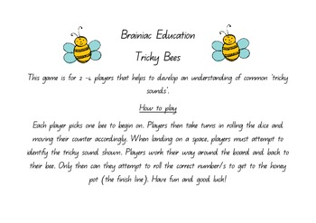 Tricky Bees - Tricky Sounds Board Game