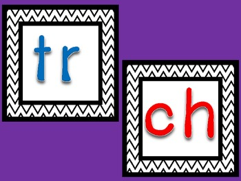 """Tricky Blends: """"tr or ch?"""" Picture and Word Sort"""