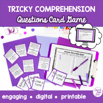 Tricky Comprehension Questions Card Game