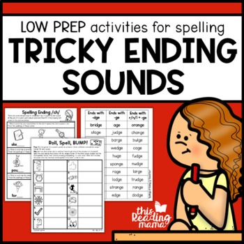 Tricky Ending Sounds Spelling Pack