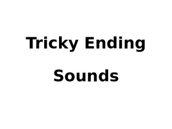 Tricky Final Sound - Oral Substitution
