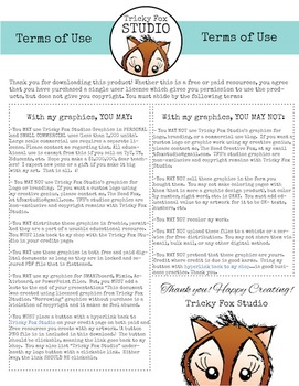 Tricky Fox Studio: Terms of Use