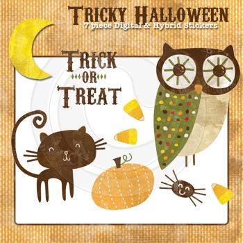 Tricky Halloween high resolution Halloween Clip Art illustrations