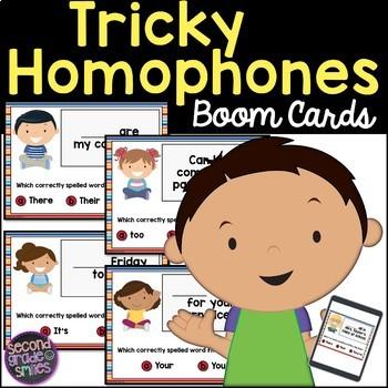 Tricky Homophones Boom Cards