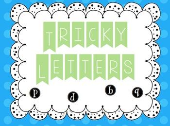 Tricky Letters- Recognition Practice b, d, p, q