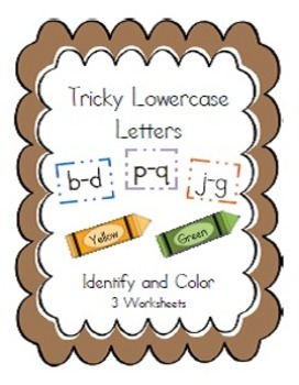 Tricky Lowercase Letters - Identify and Color